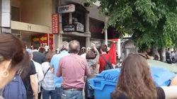 Ένταση έξω από τα γραφεία του ΣΥΡΙΖΑ στη