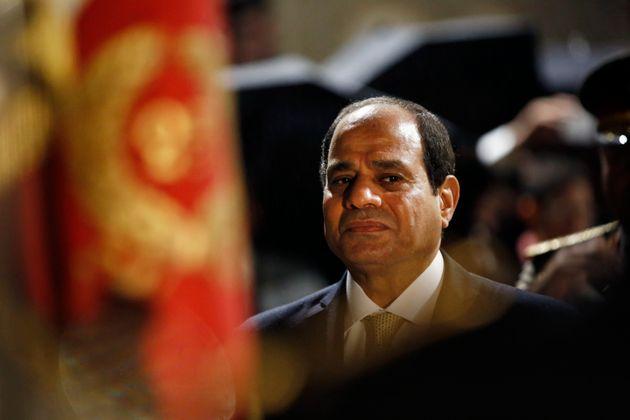 Le président égyptien Abdel Fattah al-Sissi lors d'une visite à Paris le 23 octobre