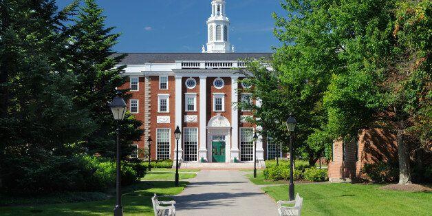 Harvard Business School. Classic university building on
