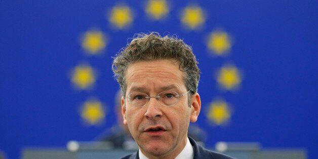 Dutch Finance Minister and Eurogroup President Jeroen Dijsselbloem addresses the European Parliament...