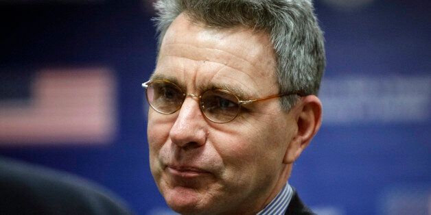 U.S. ambassador to Ukraine Geoffrey Pyatt is seen before U.S. Assistant Secretary of State Victoria Nuland's...