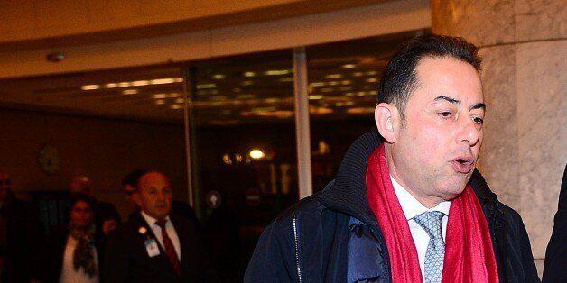ANKARA, TURKEY - OCTOBER 30: Turkey's EU Minister and Chief Negotiator Volkan Bozkir (R) welcomes Gianni...