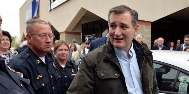 Republican presidential candidate Sen. Ted Cruz, R-Texas, shakes hands at a campaign stop Thursday April...