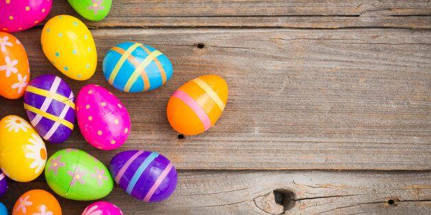 Easter eggs on