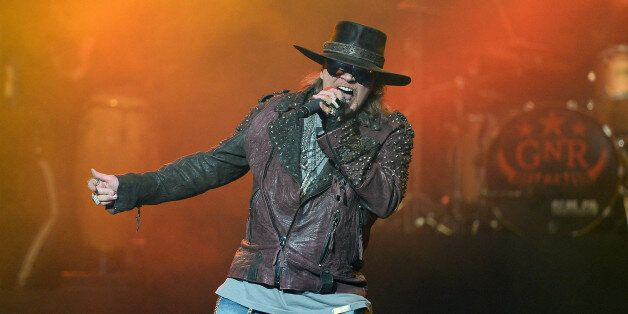 LAS VEGAS, NV - MAY 21: Singer Axl Rose of Guns N' Roses performs at The Joint inside the Hard Rock Hotel...