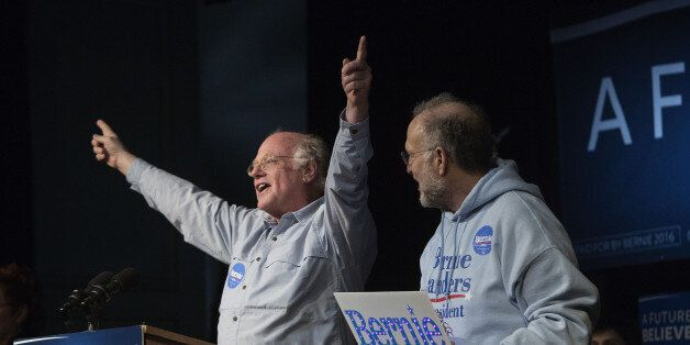 Jerry Greenfield, right, and Ben Cohen, co-founders of Ben & Jerry's Homemade Holdings Inc., introduce...