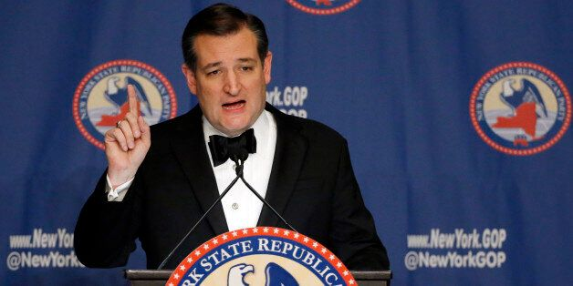 Republican presidential candidate Sen. Ted Cruz, R-Texas, speaks during the New York Republican State...