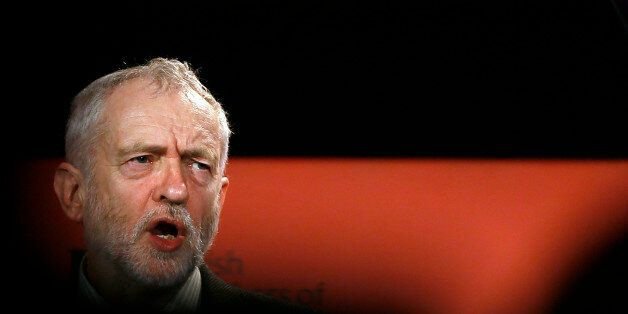 Britain's opposition Labour Party leader Jeremy Corbyn speaks during the British Chambers of Commerce...