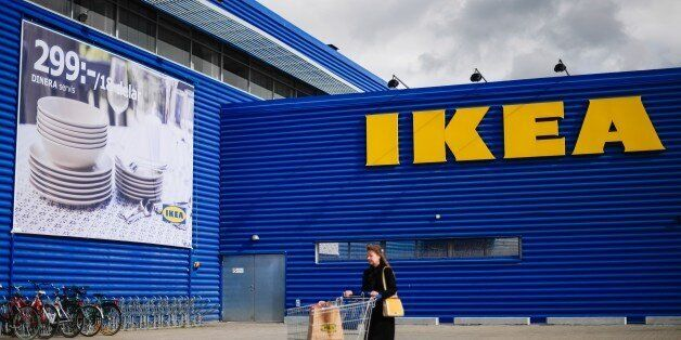 A client walks outside Europe's biggest Ikea store is pictured in Kungens Kurva, south-west of Stockholm...