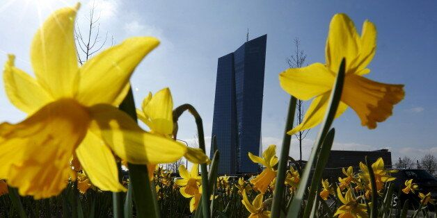 The headquarters of the European Central Bank (ECB) is pictured in Frankfurt, Germany, March 26, 2016....