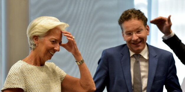 International Monetary Fund Managing Director Christine Lagarde and Eurogroup President Jeroen Dijsselbloem...