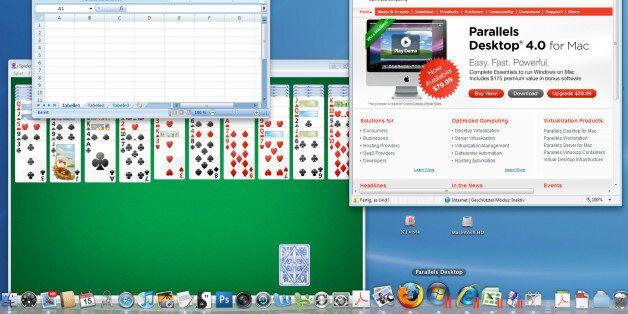 **FILE**Screenshot des Computerprogramms 'Parallels Desktop' Mit dem Parallels Desktop 4.0 koennen Windows-Programme...