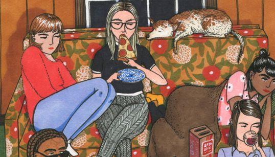 Οι καθημερινές ζωές των γυναικών απεικονίζονται με τρυφερά ρεαλιστικό τρόπο στα υπέροχα σκίτσα της Sally