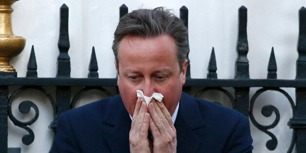 Britain's Prime Minister David Cameron arrives at the memorial service for victims of the attack on the...