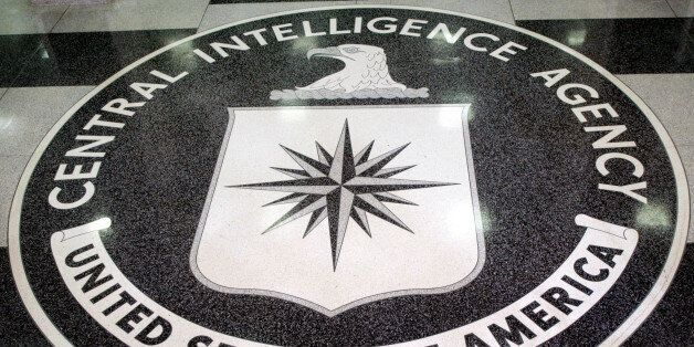The logo of the U.S. Central Intelligence Agency is shown in the lobby of the CIA headquarters in Langley,...