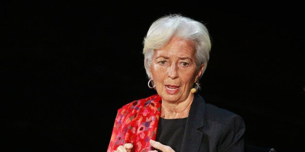 Christine Lagarde, Managing Director of the International Monetary Fund, speaks during the Women In The...