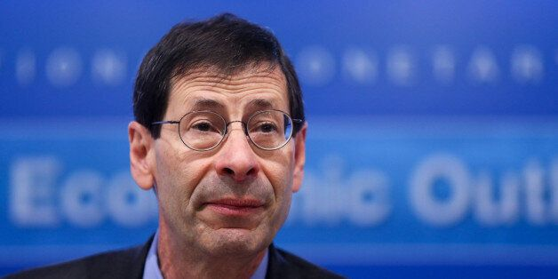 Maurice Obstfeld, chief economist at the International Monetary Fund (IMF), speaks during a news conference...