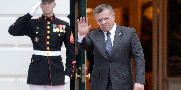 His Majesty Al Sharif Abdullah Bin Al Hussein, King of Jordan, arrives for a working dinner on the South...