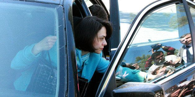 Delia Velculescu, head of Troika (IMF), arrives at the presidential palace for a meeting with Cyprus'...