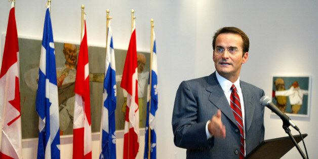 Jean Lapierre announces he will run for the federal Liberals in the Montreal riding of Outremont during...