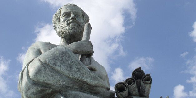 Statue of Aristotle a great greek