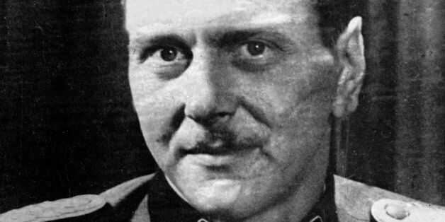 Otto Skorzeny, German officer of the armed SS and of the security service, who led the exploit of the...