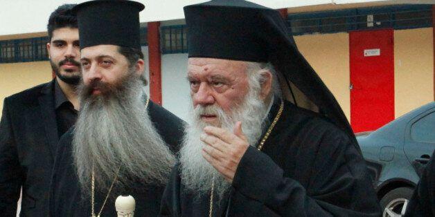 O αρχιεπίσκοπος Αθηνών και Πάσης Ελλάδος Ιερώνυμος (φωτογραφία