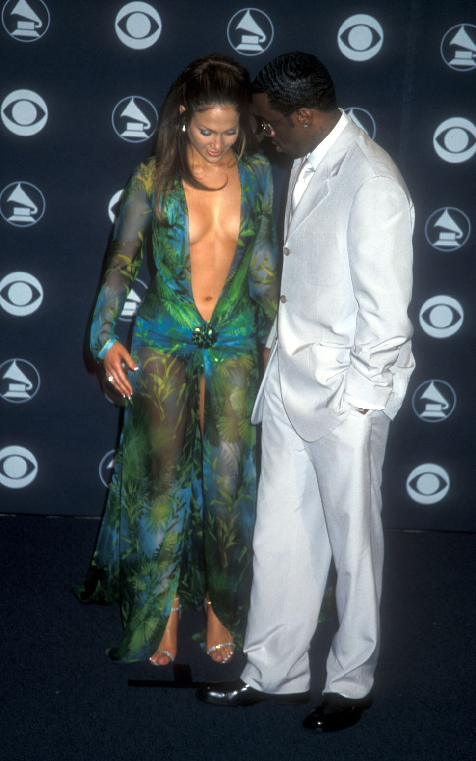 Jennifer Lopez  & Puff Daddy (Photo by Barry King/WireImage)