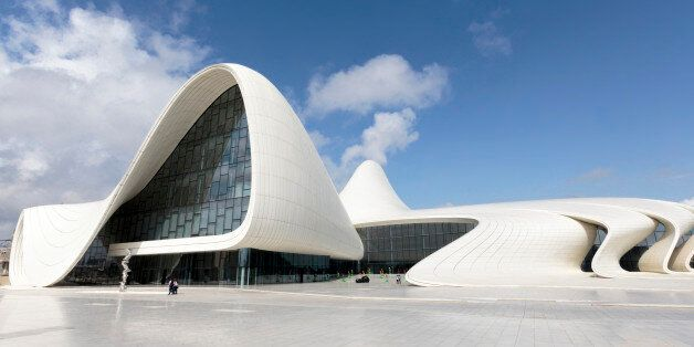 The Heydar Aliyev Center is a 619, 000-square-foot building complex in Baku, Azerbaijan designed by Iraqi-British...
