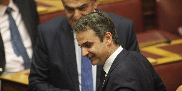Ο Κυριάκος Μητσοτάκης έκανε check in στη