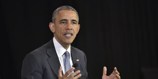 US President Barack Obama takes part in a discussion on the Supreme Court and the country's judicial...
