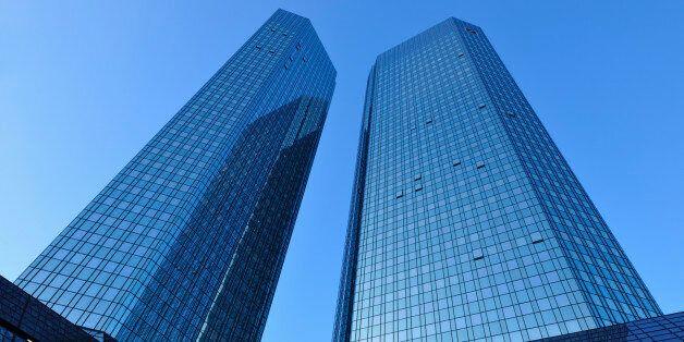 Deutsche Bank Skyscraper, Frankfurt am Main, Hesse, Germany,