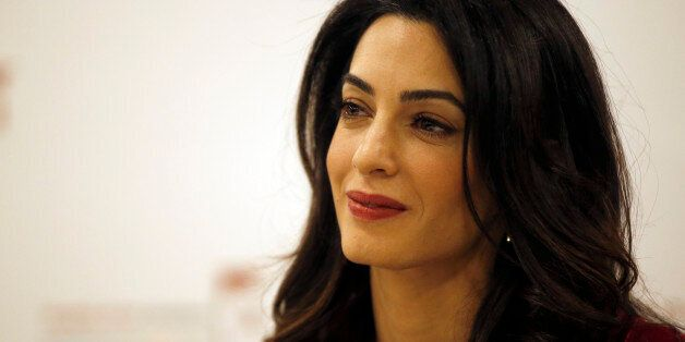 British lawyer Amal Clooney attends a press conference with former Maldives president Mohamed Nasheed...