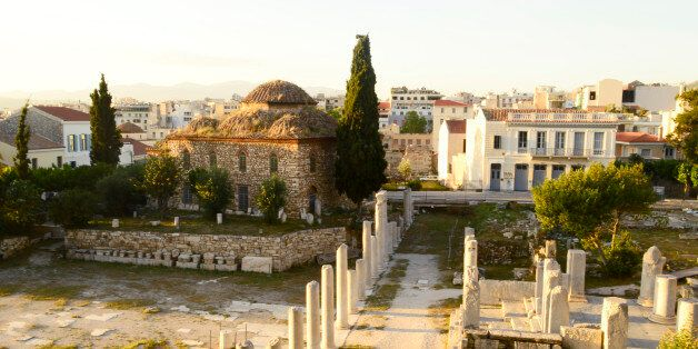 acnient market in Athens