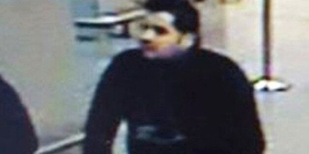FILE - In this combination of two undated photos, TOP showing Ibrahim El Bakraoui before attacks at Belgium's...