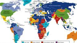 Ο χάρτης που δείχνει τι εξάγει η κάθε χώρα. Ποια προϊόντα εξάγει η