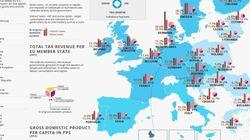 Ο χάρτης με τις χώρες που πληρώνουν τους περισσότερους φόρους στην Ευρώπη. Πληρώνουμε πολλά ή όχι σαν