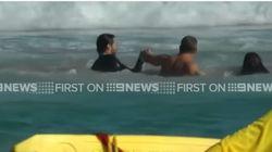 Ο Χιου Τζάκμαν βοήθησε λουόμενους που είχαν παρασυρθεί από κύματα στην