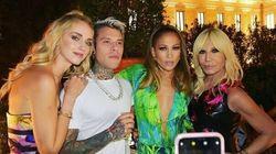 Donatella Versace al party dopo sfilata fa le cose in grande (e non mancava