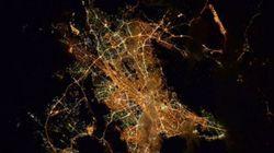 Ένας αστροναύτης λέει «Καληνύχτα Αθήνα» από το