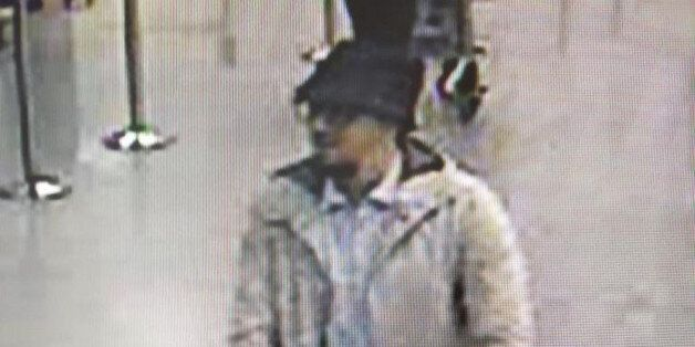 In this image provided by the Belgian Federal Police in Brussels on Tuesday, March 22, 2016, a man who...