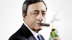 Ο Ντράγκι ανάβει το πούρο του με ένα χαρτονόμισμα των 100 ευρώ στο νέο εξώφυλλο της