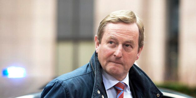 The Prime Minister of Ireland Enda Kenny arrives for an EU leaders summit with Turkey on migrants crisis...
