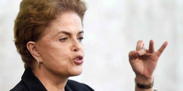 Brazilian President Dilma Rousseff holds a meeting with rectors of public universities and technical...