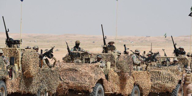 Special forces perform during the Northern Thunder military exercises in Hafar al-Batin, 500 kilometres...