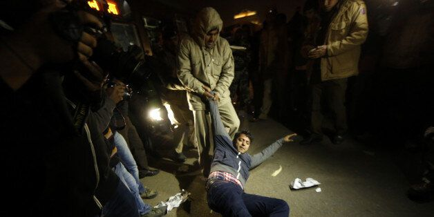 NEW DELHI, INDIA - DECEMBER 20: The Delhi Police detain the protestors of Nirbhaya who were protesting...