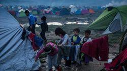 Στις λάσπες ο καταυλισμός της Ειδομένης όπου παραμένουν περισσότεροι από 13.000