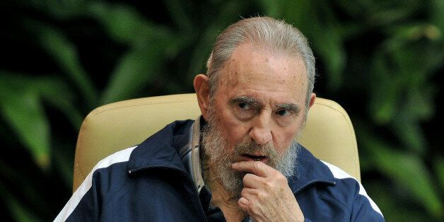 Former Cuban president Fidel Castro attends the final session of the 6th Cuban Communist Party Congress,...