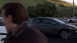 Δημοσιογράφος γλιτώνει από θαύμα από αυτοκίνητο εκτός