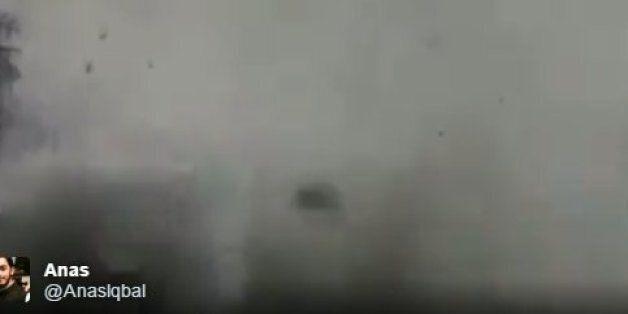 Άγκυρα: Κάμερα κλειστού κυκλώματος καταγράφει την στιγμή της έκρηξης. Συντρίμμια, πανικός και
